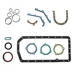 Bottom end gasket set with front and rear oil seals