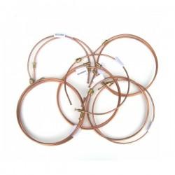 Copper brake pipe set